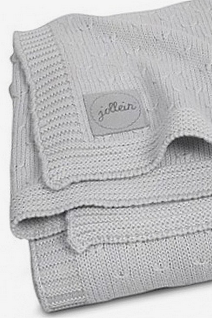 вязаный плед для новорожденного Jollein Soft серый большой цены
