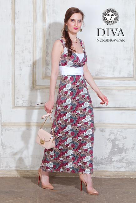 Сарафан для беременных и кормящих Diva Nursingwear - Alba Maxi, Rose ... c759cccc769