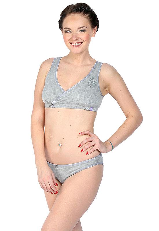 Комплект белья Бьюти серый для беременных и кормящих мам – цены, купить  одежду для кормящих I Love Mum в интернет-магазине Sling.ru в Москве de1ffa8b2e2