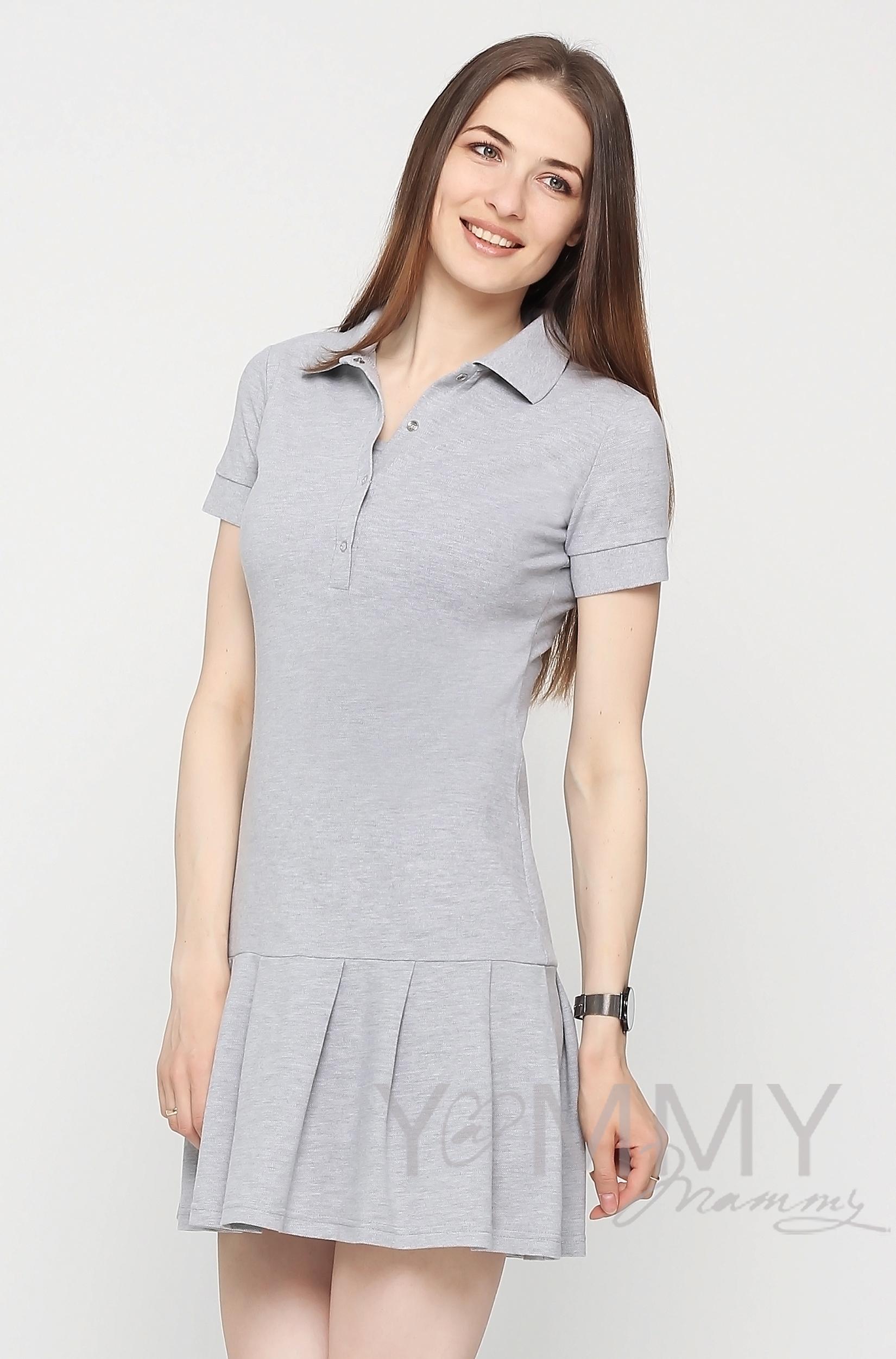1a21e5eb3db ... Платье для беременных и кормящих поло с воланом
