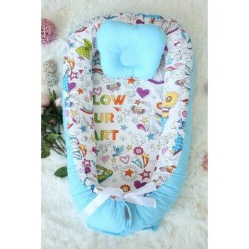 Кокон-гнездышко для новорожденных Babynest Holiday Blue