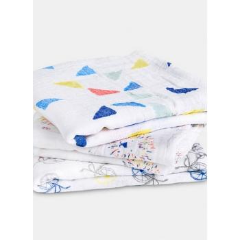Муслиновые пеленки для новорожденных Aden&Anais средние, набор 3, Leader Of The Pack