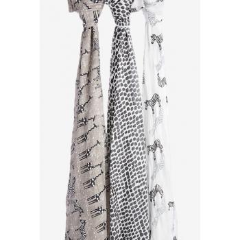 Бамбуковые пеленки для новорожденных Aden&Anais большие, набор 3, Saharamotif