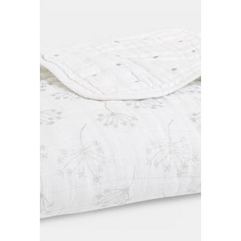 Муслиновое одеяло Aden&Anais, мерцающее, Metallic Silver Deco