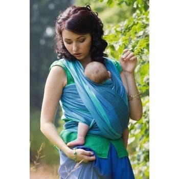 Слинг-шарф «Табатай» Амама, бирюзовый полосатый