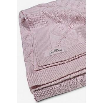 Вязаный плед для новорожденных Jollein Ромбы, винтажный розовый