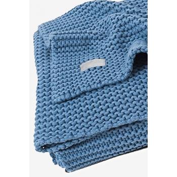 Вязаный плед для новорожденных Jollein Heavy, голубой