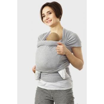Трикотажный слинг-шарф, серый меланж