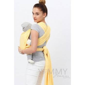 Слинг-шарф трикотажный, цвет светло-желтый