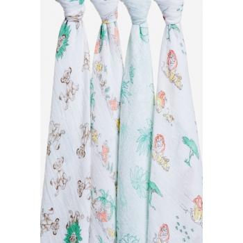 Муслиновые пеленки Aden&Anais для новорожденных большие, набор 4, Disney Lion King