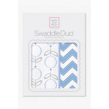 Набор пеленок SwaddleDesigns Swaddle Duo Lolli Chevron Blue
