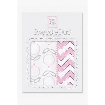 Набор пеленок SwaddleDesigns Swaddle Duo, Lolli Chevron Pink