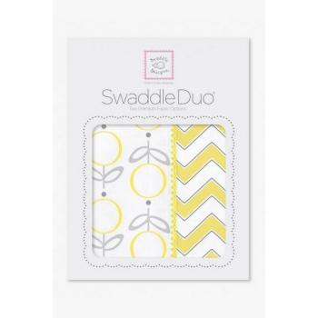 Набор пеленок SwaddleDesigns - Swaddle Duo, Lolli Chevron Yellow