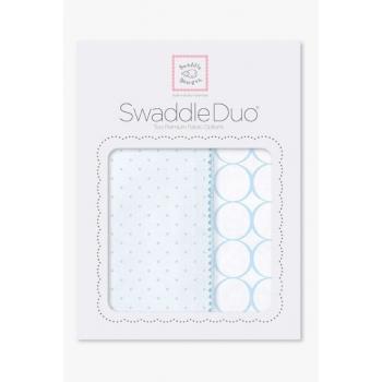 Набор пеленок SwaddleDesigns - Swaddle Duo PB Dot/Mod Circle