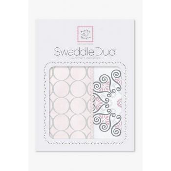Набор пеленок SwaddleDesigns - Swaddle Duo, Pink Mod Medallion