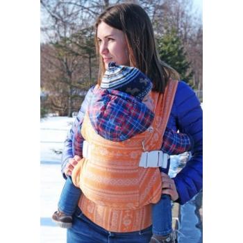 Слинг-рюкзак шарфовый с бамбуком Karaush, Orange