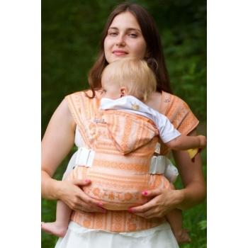 Слинг-рюкзак шарфовый с бамбуком Karaush, Orange White