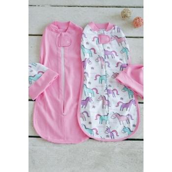 Комплект пеленок-коконов для новорожденных, Unicorn