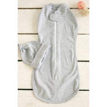 Пеленка кокон для новорожденных трикотажная, Grey