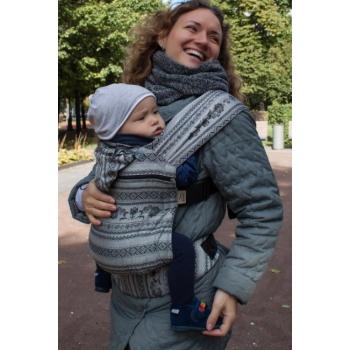 Эрго-рюкзак Карауш шарфовый с бамбуком, Elegance Black
