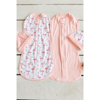 Комплект пеленок-коконов для новорожденных, Flamingo