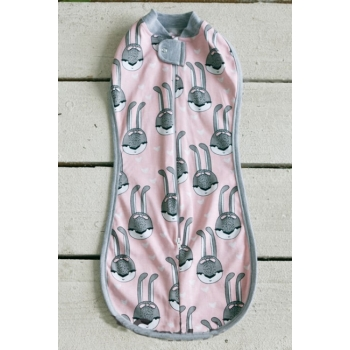 Пеленка-кокон для новорожденных трикотажная, Pink Rabbit