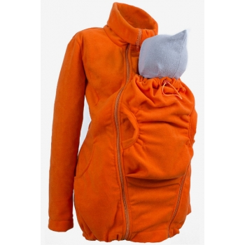 Флисовая слингокуртка и куртка для беременных, оранжевый