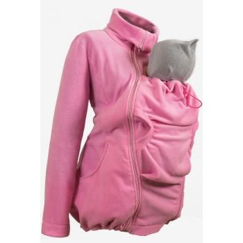 Флисовая слингокуртка и куртка для беременных, розовый