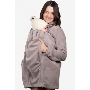 Флисовая слингокуртка и куртка для беременных, дымчатый
