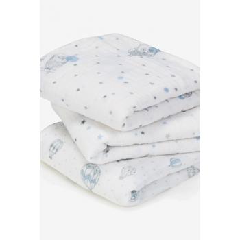 Муслиновые пеленки для новорожденных Aden&Anais средние, набор 3, Night Sky