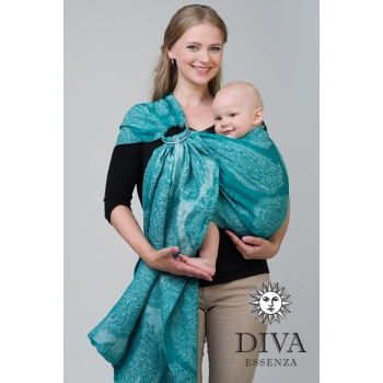 Слинг с кольцами Diva Essenza, Smeraldo Linen
