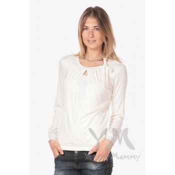 Блуза для кормящих с бантом, цвет экрю