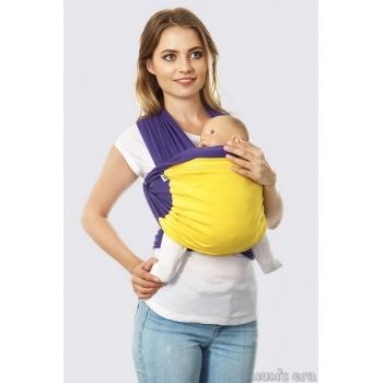 Слинг-шарф трикотажный Fusion, ваниль-мятный