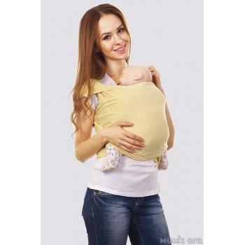 Слинг-шарф трикотажный, ванильный