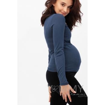 Водолазка для беременных и кормящих, цвет темно-синий