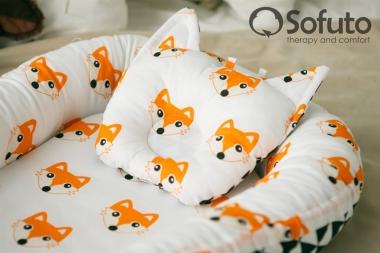 Гнездышко для новорожденных Babynest Little Fox