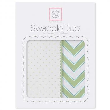 Набор пеленок SwaddleDesigns Swaddle Duo KW Classic Chevron