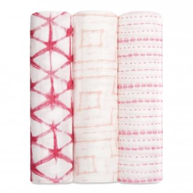 Бамбуковые пеленки для новорожденных Aden&Anais большие, набор 3, Berry