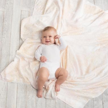 Бамбуковые пеленки для новорожденных Aden&Anais большие, набор 3, Metallic primrose