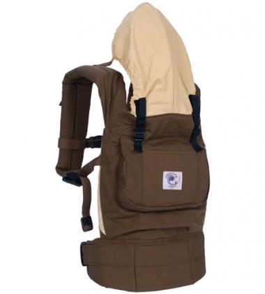 Рюкзак-переноска ERGO Baby CARRIER ORGANIC шоколад/карамель