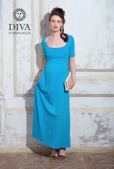 Платье для кормящих и беременных Diva Nursingwear Stella Maxi, Celeste