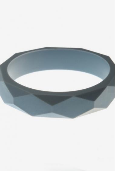 Молочный браслет из пищевого силикона, серый