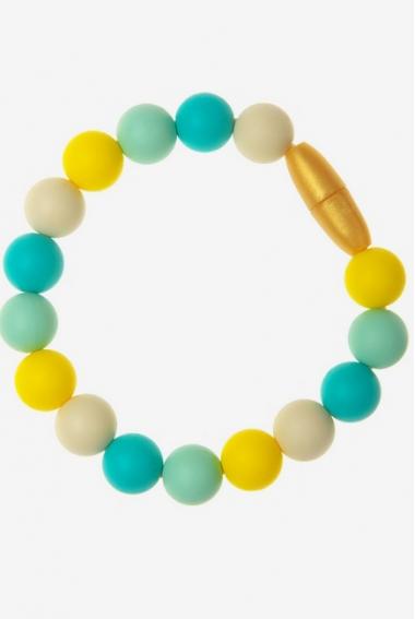 Силиконовый браслет-прорезыватель Майя, бирюзовый