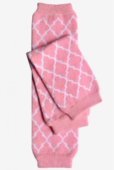 """Слингогетры (гетры для детей) """"Quatrefoil Pink"""""""