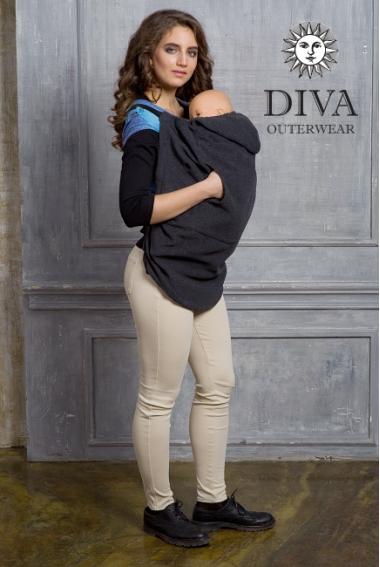 Слингонакидка из шерсти Diva Outerwear Antracite (графит)