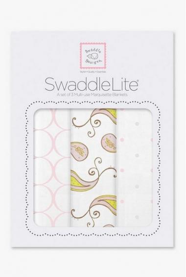 Набор пеленок SwaddleDesigns SwaddleLite Paisley Pink