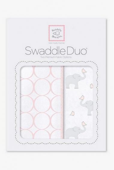 Набор пеленок SwaddleDesigns Swaddle Duo PP Elephant & Chickies Mod Duo