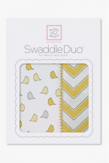 Набор пеленок SwaddleDesigns Swaddle Duo Y Chickies/Chevron