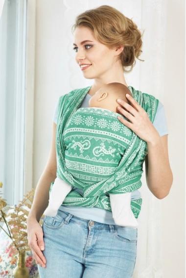 Слинг-шарф Ящерицы, зеленый