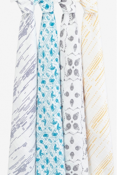Муслиновые пеленки для новорожденных Aden&Anais большие, набор 4, Kindred